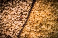 Roher Sesam | gerösteter Sesam