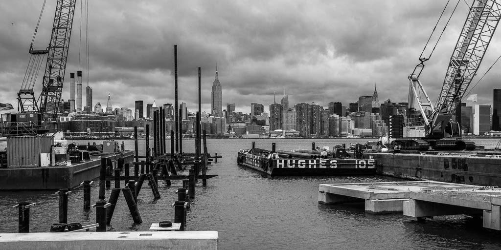 Blick auf die Skyline von Manhattan.