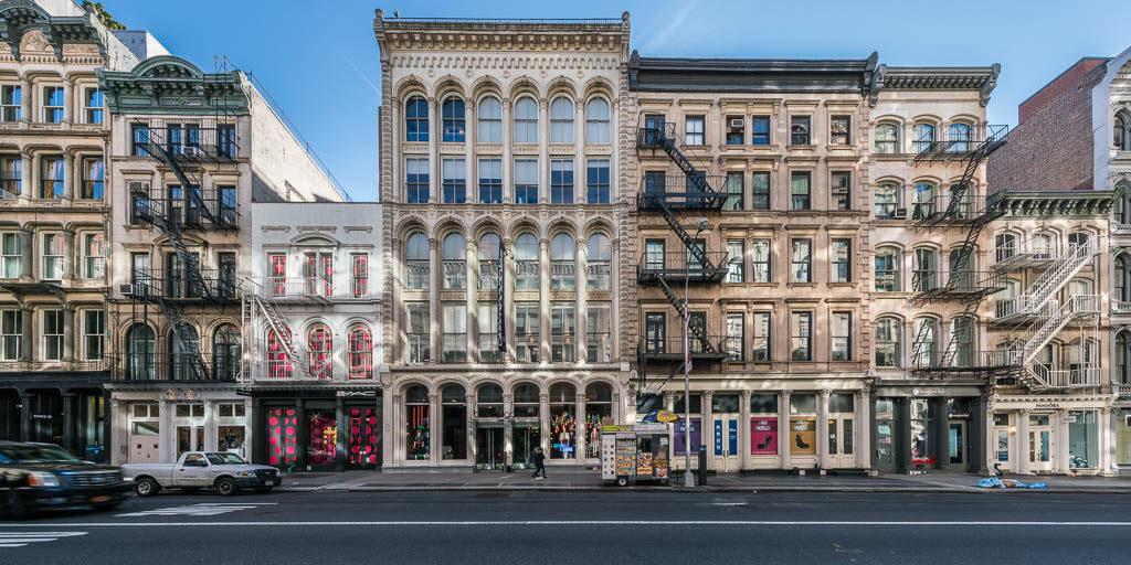 Häuseransicht in Lower Manhattan.