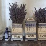 Lavendelsträuße in der Küche