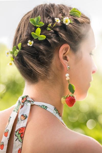 Erdbeer-Rhabarber-Marmelade Detail