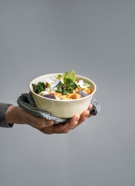 Süßkartoffelcurry mit Flower Sprouts
